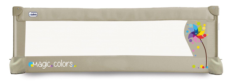 Asalvo 151504 - Barrera de cama 150 cm para bebés, diseño molinillo, color beige Asalvo_151504