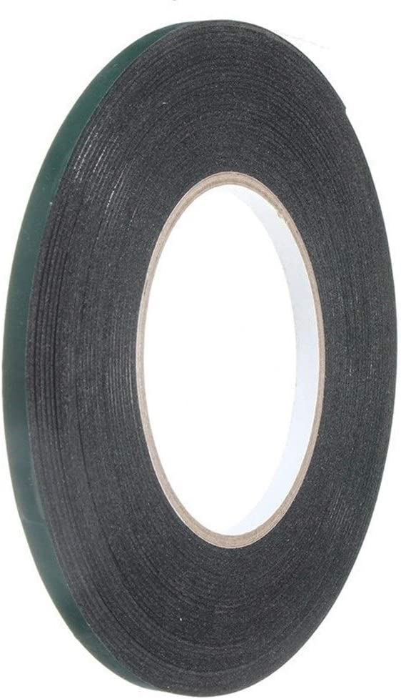 PVC 10M Cinta De Doble Cara Adhesivo Fuerte Cinta De Espuma Negra 6mm-50mm For Reparación De Teléfonos Celulares Pantalla A Prueba De Polvo PVC (Color : Green, Size : 10M x 15mm x 1mm)