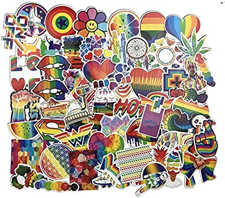Inveroo 60 Pcs Rainbow Pegatina Anime Icono Animal Lindo Calcomanías Pegatinas Regalos para Los Niños A La Computadora Portátil Maleta De La Guitarra Refrigerador Bicicleta Coche: Amazon.es: Electrónica