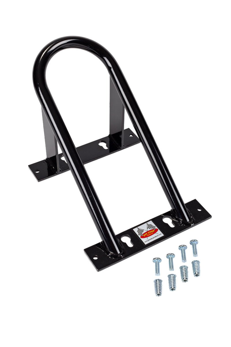 Marson USA Low Profile Chock Removable Motorcycle Wheel Chocks - Designed for Sport Bikes Black by Marson International (Image #1)