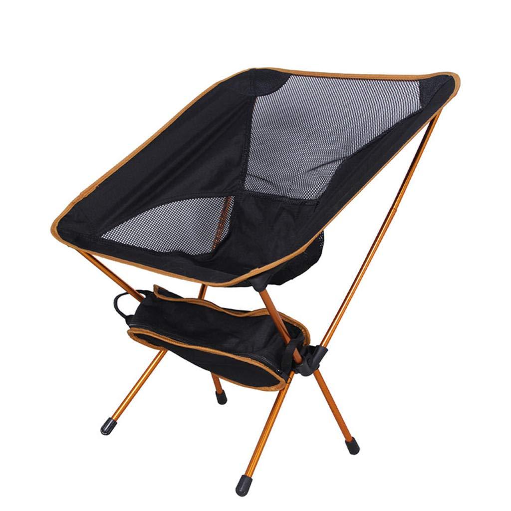 MODKOY Outdoor Portable Klappstuhl Ultralight Platz Stuhl Luftfahrt Aluminiumrohr Faul Angeln Stuhl
