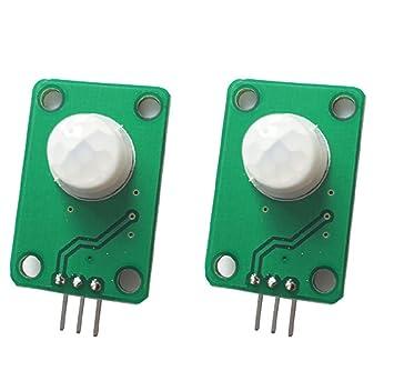 WINGONEER 2PCS Detector infrarrojo piroeléctrico Cuerpo humano Detectando el módulo del sensor de movimiento de PIR