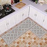 GHGMM Kitchen Floor Mats/Bathroom Mats/Strips Of Water-Absorbing Oil-Proof Waterproof Carpet Door Mat/Suitable For Kitchen, Bedroom, Bathroom, Bay Window,D,4060Cm+40160Cm