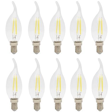 10X E14 Bombillas de Filamento 2W COB Edison LED 140LM Bombilla Retro Vintage Blanco Frío 6500K