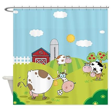 CafePress Farm Animals Decorative Fabric Shower Curtain 69quot