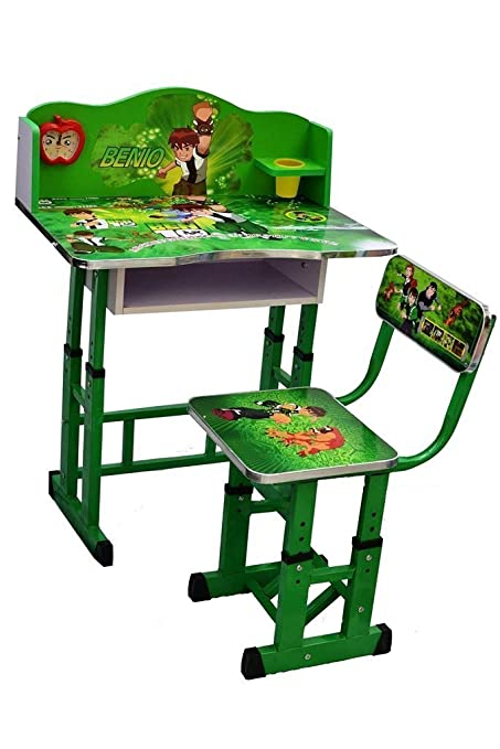 bcf4a10ea60 KRIS TOY Ben 10 Printed Kid s Wooden Study Table and Chair (3-10 Years