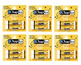 Chap Ice Lip Balm - Soothes, Protects and Moisturizes - 12 sticks (Beeswax)