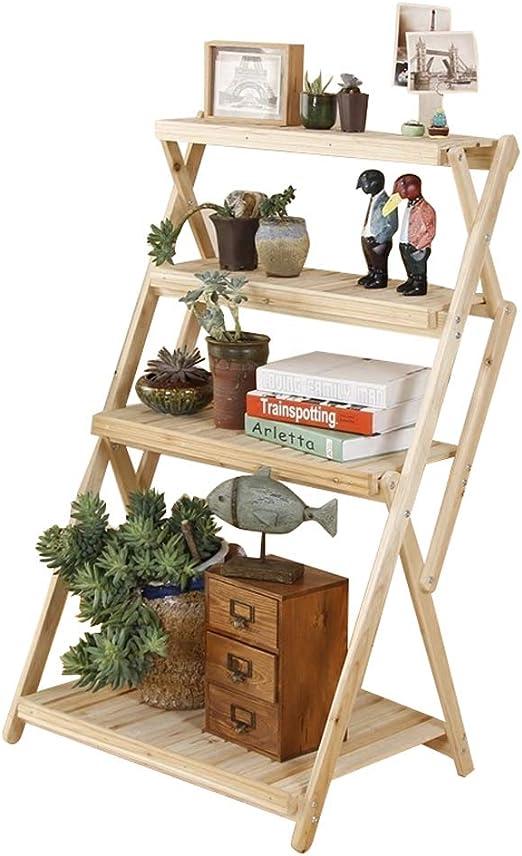 LHNLY-Flower stand Moderno Soporte de Madera para macetas para Interior y Exterior, Estante para macetas, Escalera para jardín, Patio, rústico, Organizador de estantes, decoración: Amazon.es: Jardín
