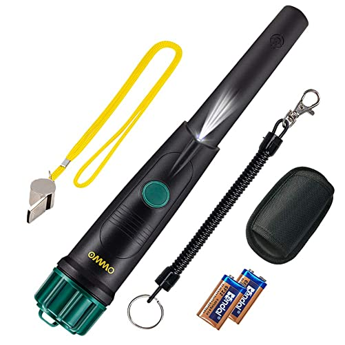 OMMO Metal Detector Pinpointer for Adults and Kids, IP68 Full Waterproof Metal Detector High Sensitive 360 Degree Searching Hand Held Gold Detector with 3 Reminder Modes