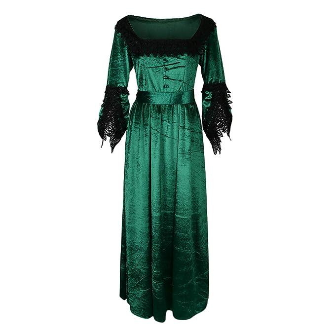IPOTCH Vestido Renacimiento Traje Victoriano Medieval ...