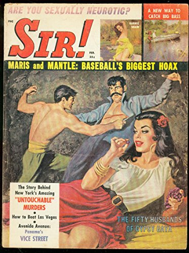 SIR! PULP FEB 1962-MICKEY MANTLE-ROGER MARIS-NAZI-DOPE VG
