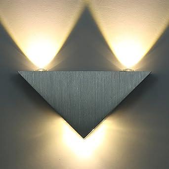 Aluminium Pour Led Éclairage Blanc Couloir Murale Decoratif Chambre Chaud En Amzdeal Applique 9w Salon Triangle Y76vybfg
