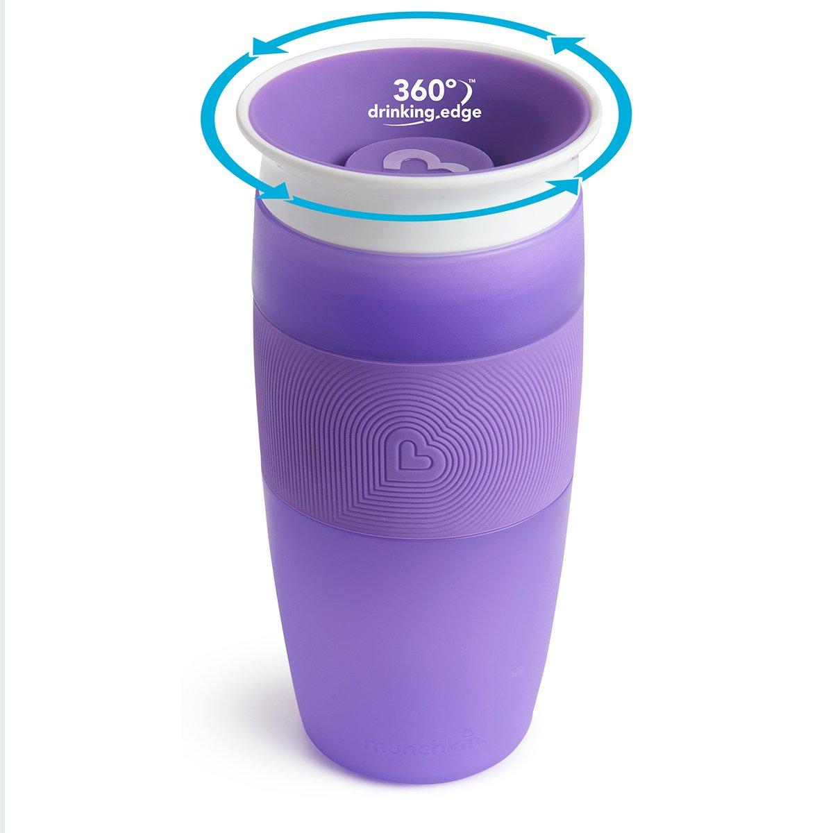 Munchkin Miracle 360ᵒ Trinkbecher ab 18 Monaten auslaufsicher violett 414 ml