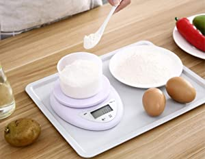 Digital Kitchen Scale 5KG/ 1g, Blue-Backlight LCD, Tare Function, Jewelry Scale for Jewlery, Food, Cooking, Nutritions