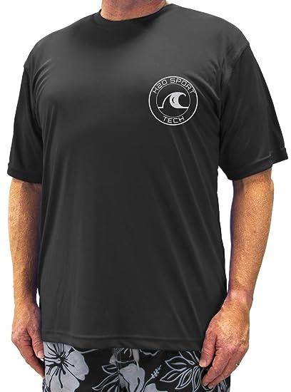4187e6d12f H2O Sport Tech Big & Tall Men's Short Sleeve Swim Shirt - Loose Fit ...
