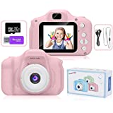 AMERTEER Kids Toy Digital Camera with [ 32 GB Memory Card and Card Reader ] Gifts for Child Boys Girls,Mini Rechargeable…