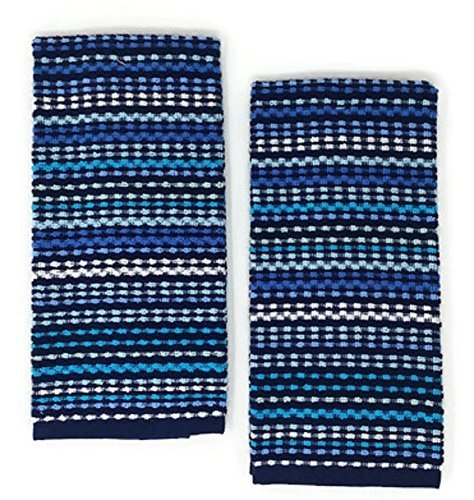 Mainstays Kitchen Towels Blue Set of 2 (Navy Blue Towels Kitchen)