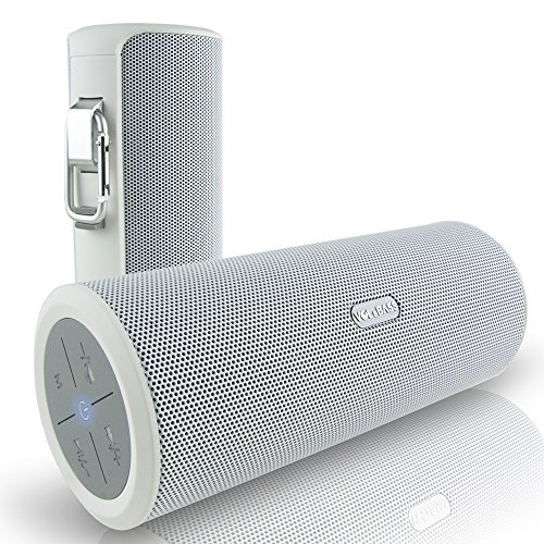 Volume and Bass Hi-Fi Wireless Bluetooth Speaker for Bluetooth Enabled Devices - White by VOL&BASS
