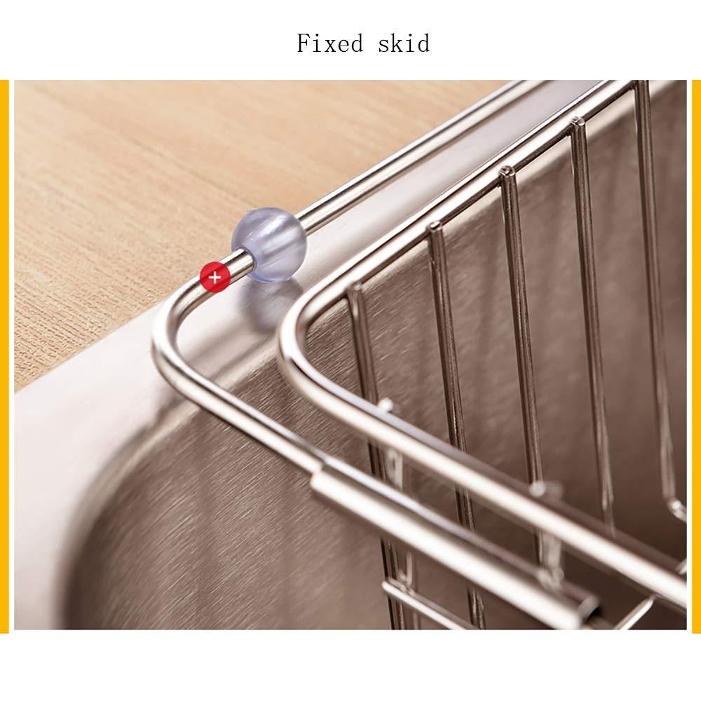 Stainless steel Housewares Under Shelf Storage Basket, kitchen shelf storage,39~45.5 cm (Size : B) by Guoqing (Image #7)