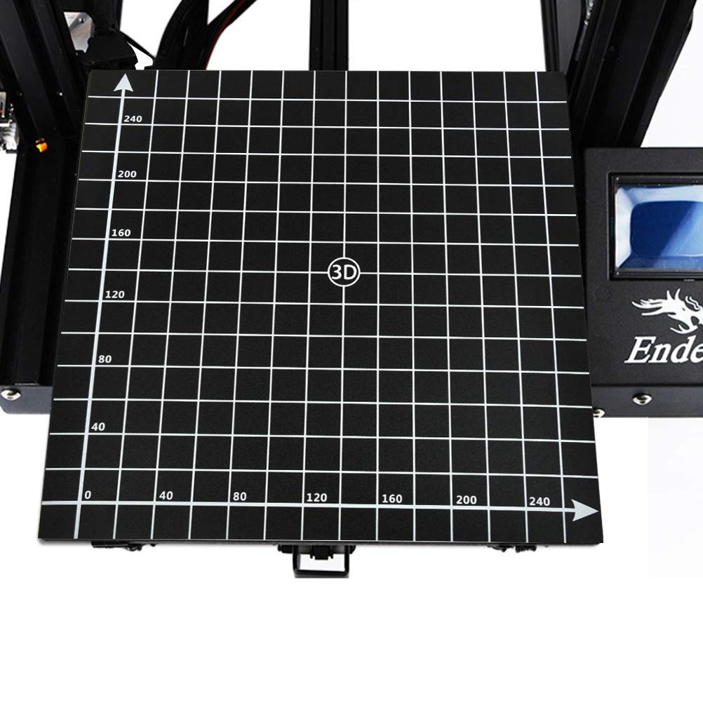 /Área de construcci/ón YOTINO de 3 partes para impresora 3D negro /área de construcci/ón 300x300 mm con adhesivo 3M