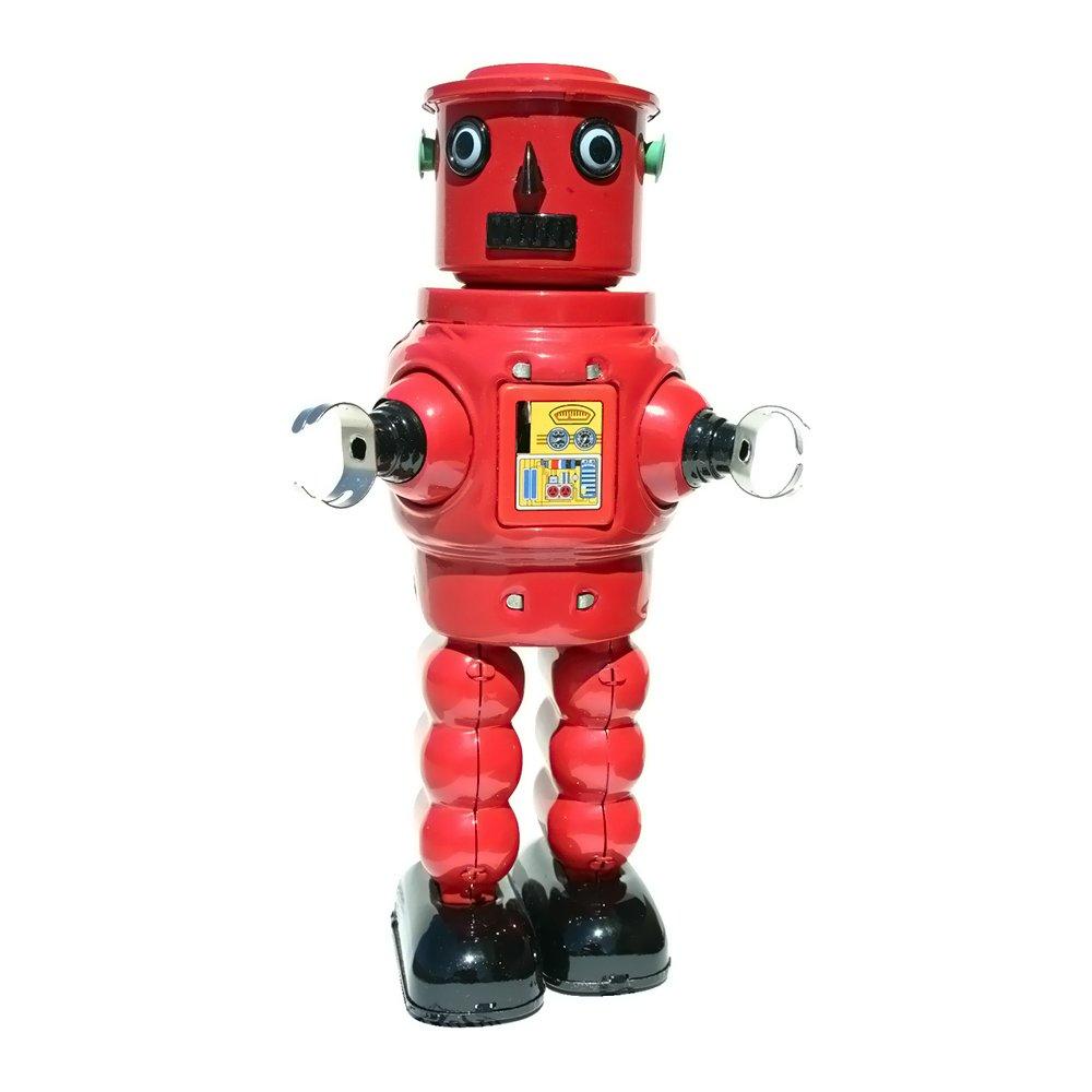 Alexander Taron Importer MS640 Tin Wind Up Robby Robot by Alexander Taron Importer