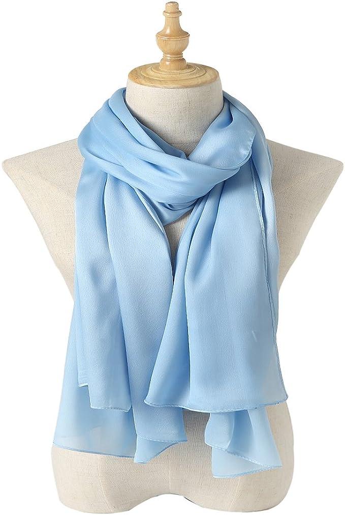 美丽的100%长丝巾只要 (33种颜色)