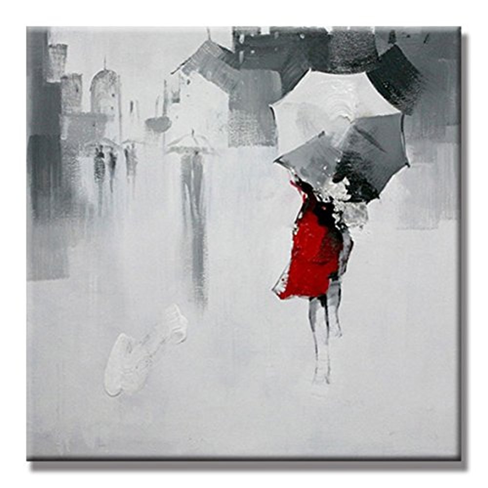 Amazon.com: yida Yun Girl paraguas Walking Arte de la pared ...