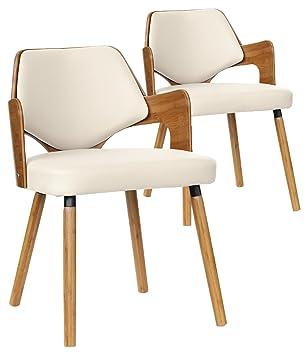 menzzo lot de 2 chaises scandinave dima bois naturel et taupe 51 x 51 - Chaises Scandinave