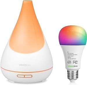 VOCOlinc Smart Oil Aromatherapy Diffuser and Smart Wi-Fi LED Light Bulb Bundle