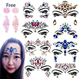 Face Glitters Jewels - 8 SET Face Gems Rhinestone Mermaid Face Jewel Tattoo Eyes Face Body Glitter Crystal Tears Gem Stones for All Festiva