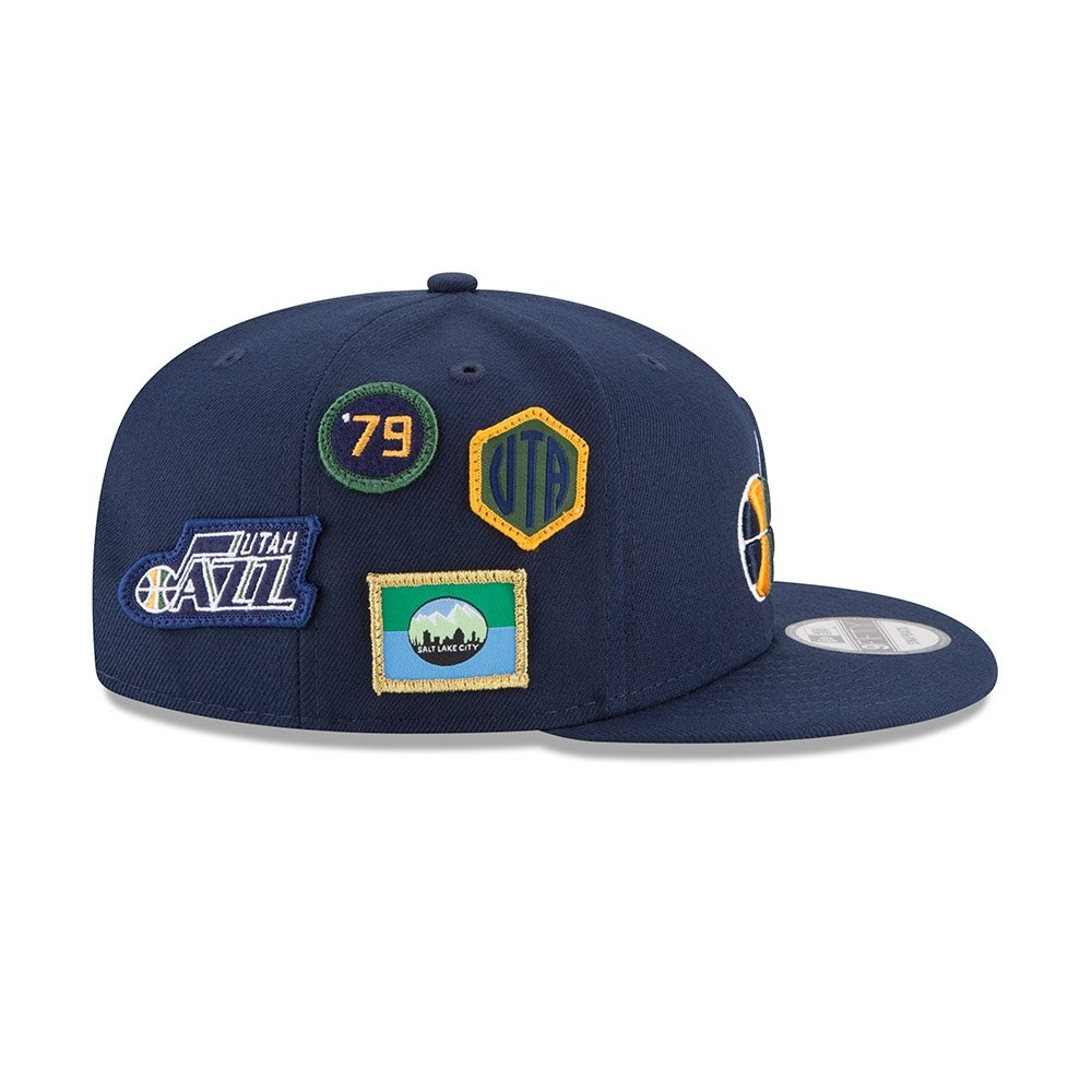 Amazon.com   New Era Utah Jazz 2018 NBA Draft Cap 9FIFTY Snapback  Adjustable Hat- Navy   Sports   Outdoors ed5e30035fed