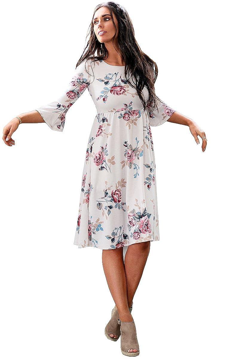 916de1e5ef0d Mikarose Women's Naomi Bell Sleeve Modest Dress at Amazon Women's Clothing  store: