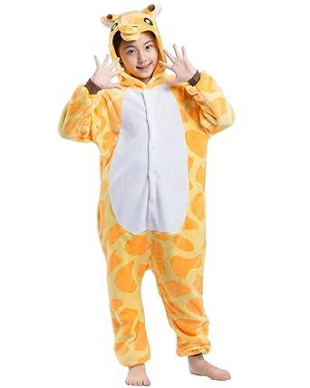 1e17add0c4ac4 Magicmode Unisexe Enfants De Dessin Animé Girafe Un Morceau Grenouillère  Pyjama Costume De Cosplay  Amazon.fr  Vêtements et accessoires