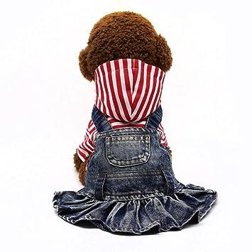 Amazon.com: SILD Ropa para mascotas, vestido de jeans para ...