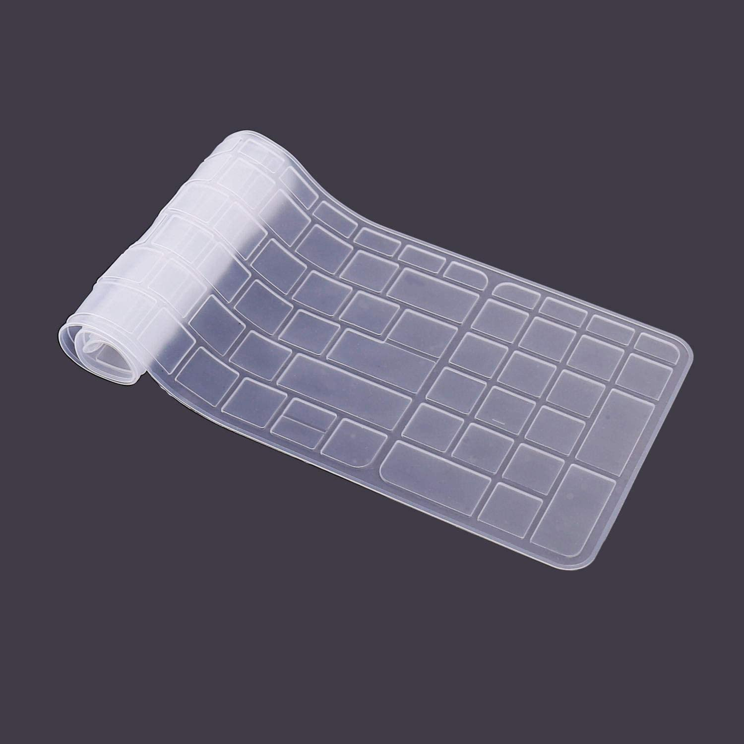 Saco Keyboard Silicon Protector Cover for HP 15-AC047TU 15.6-inch Laptop Transparent