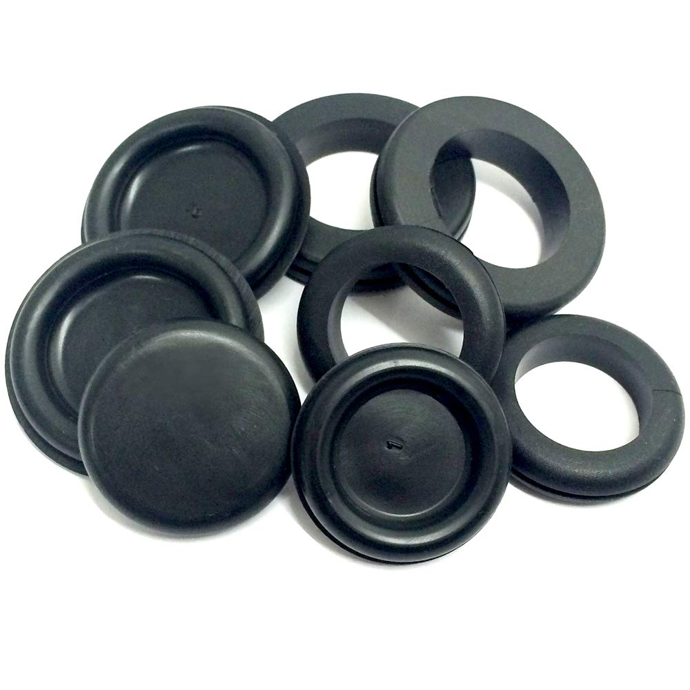 Dsl 200pcs 18 Sizes Rubber Grommet Kit Electrical Conductor Wiring Grommets Uk And Blanking Gasket Ring Assorted Kitchen Home