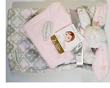 7572c97c22 Amazon.com   Blankets   Beyond 2 Pc Gift Set Blanket   Bunny Nunu   Baby