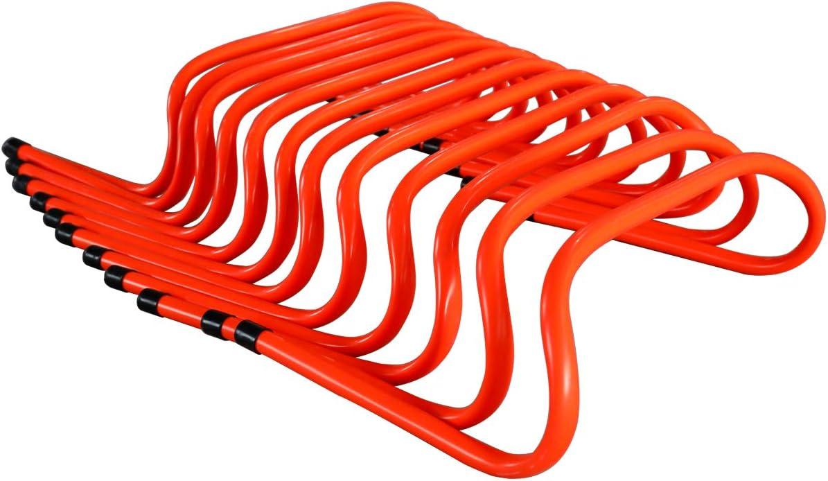 Soccer Football Basketball Track Yaegoo 6 inch Speed Agility Training Hurdles