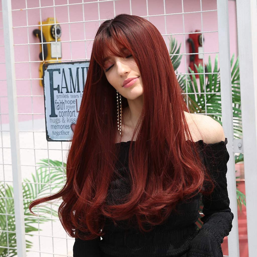 Brucelin - Peluca de moda para mujer, color negro: Amazon.es: Belleza
