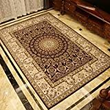 Thickened european vintage carpet mat Living room Sofa Tea table mats Bedroom Wall-to-wall bedside blanket Rectangular room mat-A 63x91inch(160x230cm)