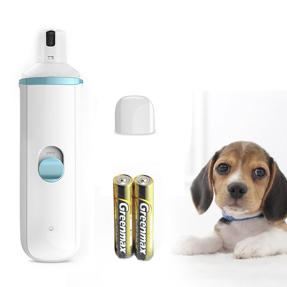 DIGDAN Dog Nail Grinder, Electric Pet Nail Grinder for Dogs,Cats, Rabbits,Low Noise and Gentle Pet Grooming Kit ,Portable Paw Clippers Grooming Tools for Other Animals