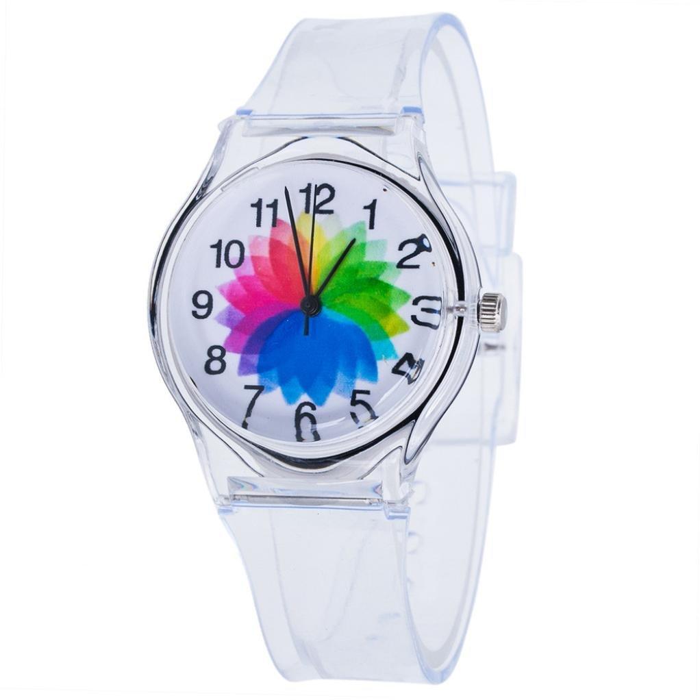 BCDshop Child Watch, Kids Children Lovely Quartz Wrist Watches Boys Girls Transparent Watch Adjustable (G, Stainless Steel)
