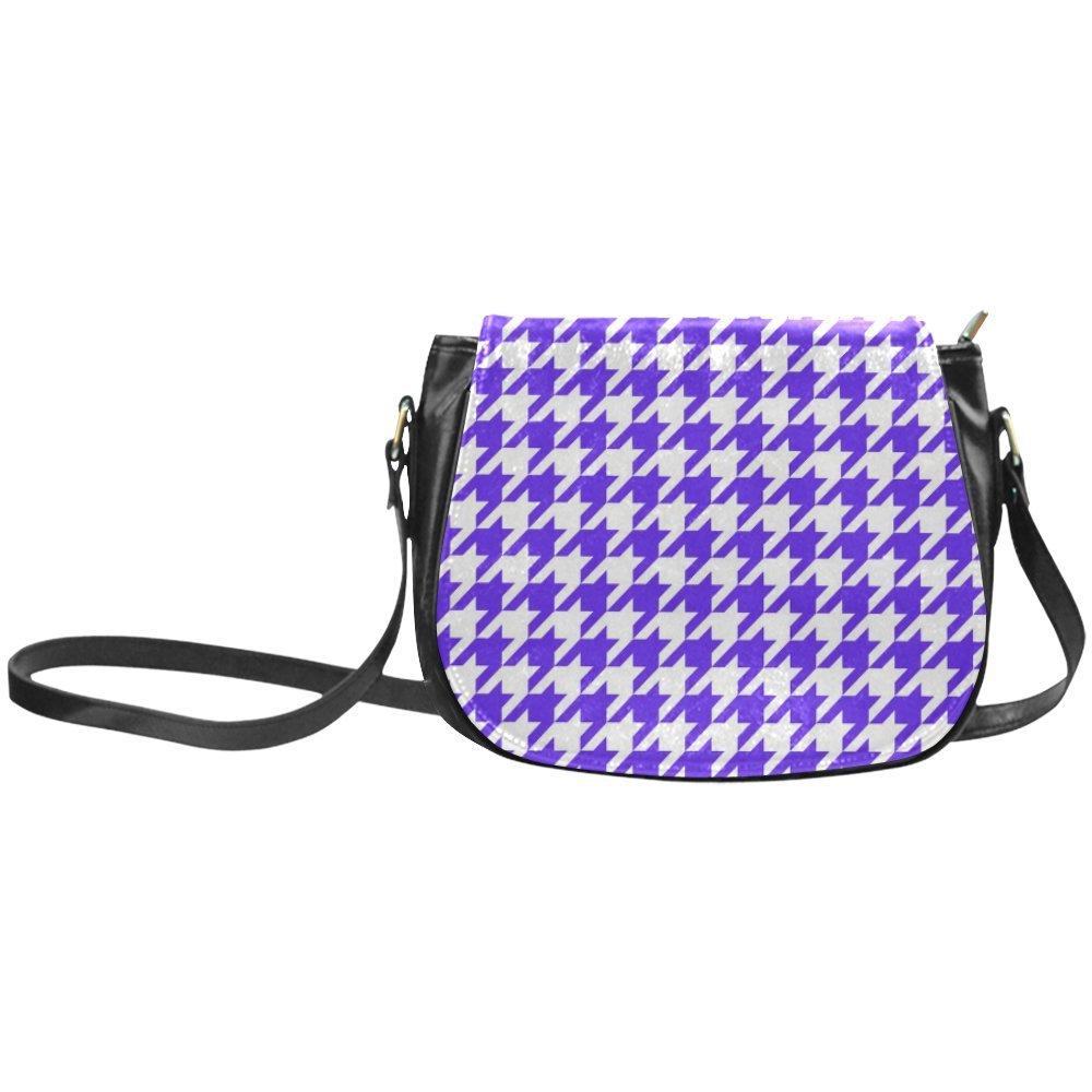 Fashion Women And Girls Colorful Houndstooth Blue Classic Saddle Bag/Shoulder Bag/Handbag SD-236