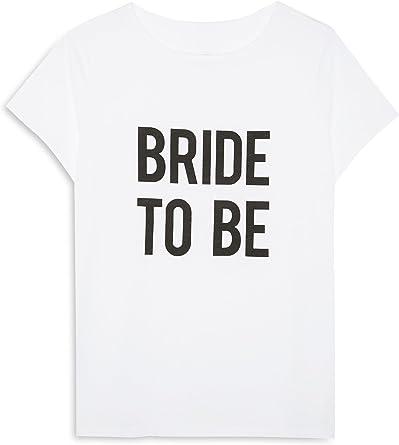 Primark Camiseta - Mujer Blanco Blanco 46: Amazon.es: Ropa y ...