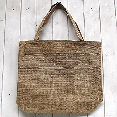 Shopping Grocery Tote Bag Natural Jute Heavy Duty Strap ECO Recycle