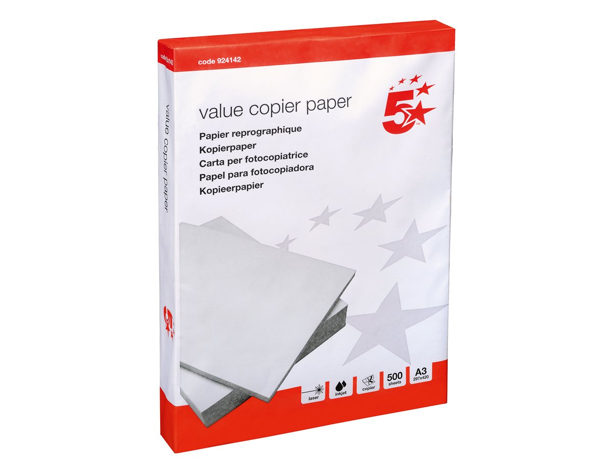 Amazon.com : 5 Star Value Copier Paper Multifunctional Ream-Wrapped ...