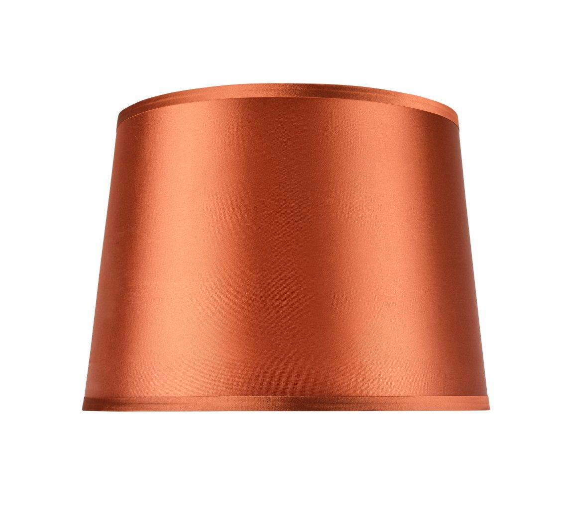 Aspen Creative 32307, Transitional Hardback Empire Shaped Spider Construction Lamp Shade in Burnt Orange, 14'' Wide (12'' x 14'' x 10'')