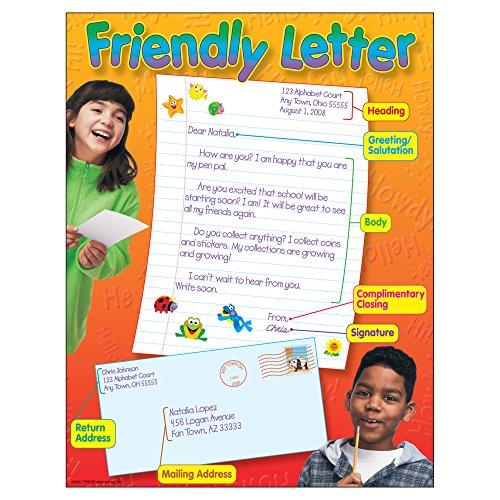 """Trend Enterprises Inc. Friendly Letter Learning Chart, 17"""" x 22"""" -  TREND enterprises, Inc., T-38038"""