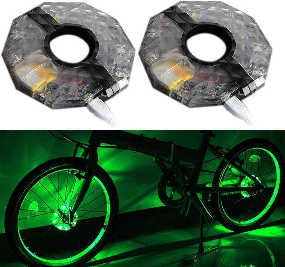 MoreLucky luces LED recargables RGB coloridas para rueda de ...