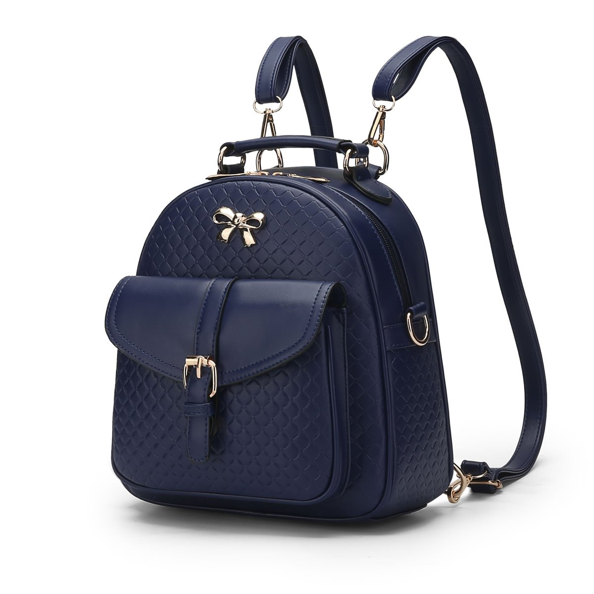 MSZYZ Women's shoulder bag spring and summer young girl's small backpack,blue,24.51026CM